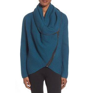 ELIE TAHARI Nikki Asymmetric Zip Sweater